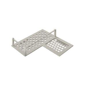 "Deltana Wbhdcr9u15 Right Hand L-shaped Corner Shelf, 9"", Brushed Nickel"