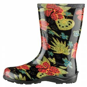 Sloggers 5002bk08 Women's Rain And Garden Boots, Midsummer Black, Size 8