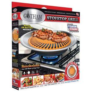 """Gotham Steel 1372 Titanium And Ceramic Stove Top Grill, 12.8"""" Dia"""