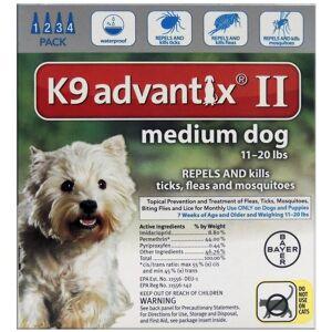 Bayer 81520372-axt K9 Advantix Ii Flea & Tick Drops, 0.14 Oz