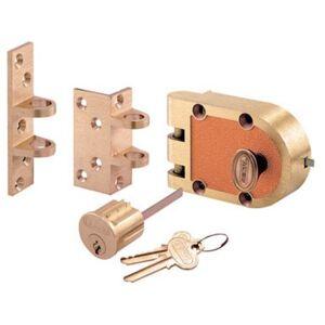 PRiME line Se 15361 Segal Single Cylinder Deadlock, Brushed Brass