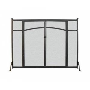 "Panacea 15910 Flat Panel Fireplace Screen With Doors, 31"" H X 39"" W"