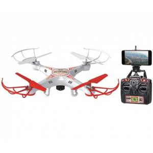 World Tech Toys 33743 Striker Livefeed Remote Control Drone, White/red