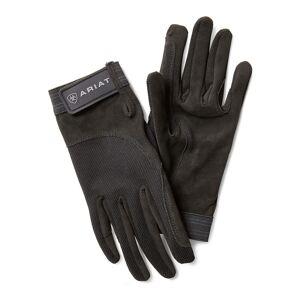 Ariat TEK Grip Gloves in Black Cotton Twill, Size 11 by Ariat
