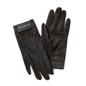 Ariat Air Grip Gloves in Black Cotton Twill, Size 8.5 by Ariat