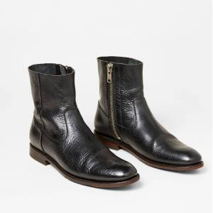 Two24 Men's Jefferson Boots in Black Bison Leather, Size 8 by Ariat Two24 D / Medium