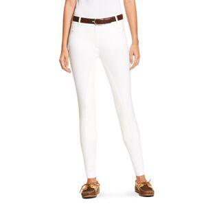 Ariat Women's Heritage Elite Full Seat Breech Riding Pants in White Cotton, Size 28 Regular by Ariat