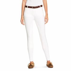 Ariat Women's Heritage Elite Full Seat Breech Riding Pants in White Cotton, Size 24 Long by Ariat