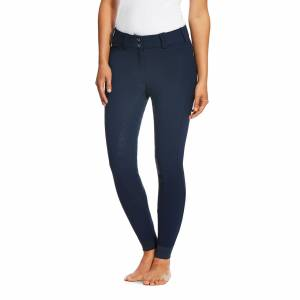 Ariat Women's Tri Factor Grip Full Seat Breech Riding Pants in Navy Blue, Size 24 Long by Ariat