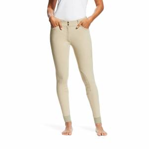 Ariat Women's Tri Factor Grip Knee Patch Breech Riding Pants in Tan, Size 36 Long by Ariat