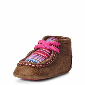 Ariat Kid's Infant Lil' Stompers Aurora Spitfire Shoes in Brown, Size 1 by Ariat