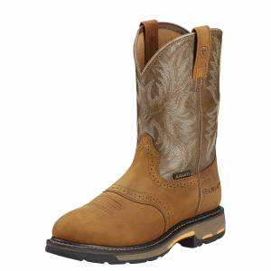 Ariat Men's Workhog Pull-on Boots in Aged Bark, Size 9.5 D / Medium by Ariat