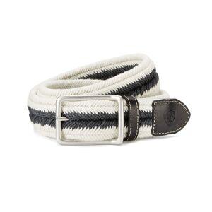 Ariat Three Rail Woven Belt in Black/Cream Cotton, Medium/Large by Ariat