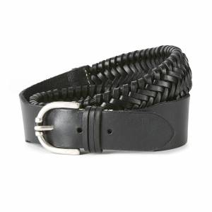 Ariat Two Point Belt in Black Leather, X-Small by Ariat