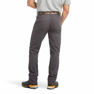 """Ariat Men's Rebar M4 Low Rise DuraStretch Made Tough Double Front Stackable Straight Leg Pants in Grey Cotton, 40 X 30 30"""" by Ariat"""