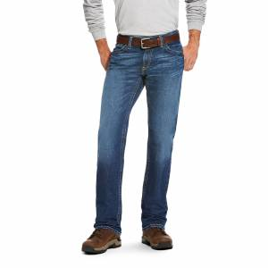 """Ariat Men's Flame-Resistant M4 Low Rise DuraStretch Stitched Incline Boot Cut Jeans in Titanium Cotton, 34 X 38 38"""" by Ariat"""