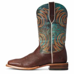 Ariat Men's Storm Western Boots in Bottle Brown Leather, Size 8 EE / Wide by Ariat