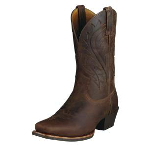 Ariat Men's Legend Phoenix Western Boots in Toasty Brown Leather, Size 10.5 D / Medium by Ariat