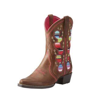 Ariat Kid's Desert Diva Western Boots in Distressed Brown Leather, 6 K B / Medium by Ariat