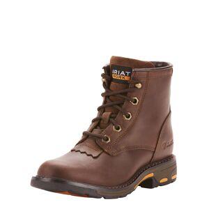 Ariat Kid's WorkHog Lacer Boots in Brown, 12 K B / Medium by Ariat