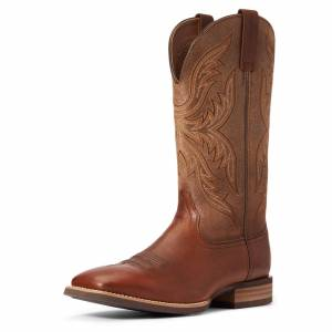 Ariat Men's Everlite Fast Time Western Boots in Peanut Leather, Size 9 EE / Wide by Ariat