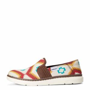 Ariat Women's Ryder Boots in Turquoise Saddle Blanket Leather, Size 8 B / Medium by Ariat