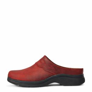 Ariat Women's Bridgeport Mule Boots in Red Leather, Size 7 B / Medium by Ariat