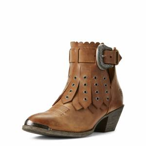 Ariat Women's Hadley Western Boots in Parma Tan Leather, Size 6.5 B / Medium by Ariat