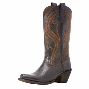 Ariat Women's Lively Western Boots in Old West Black Leather, Size 10 B / Medium by Ariat