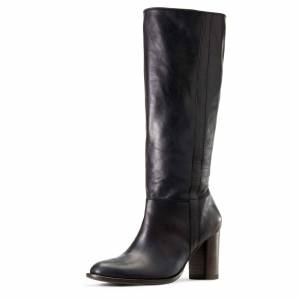 Two24 Women's Bella Boots in Black Leather, Size 7 by Ariat Two24 B / Medium