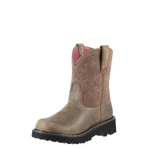 Ariat Women's Fatbaby Western Boots in Brown Bomber Leather, Size 9 C / Wide by Ariat