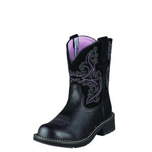 Ariat Women's Fatbaby II Western Boots in Black Deertan, Size 7.5 B / Medium by Ariat