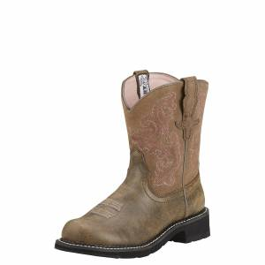 Ariat Women's Fatbaby II Western Boots in Brown Bomber, Size 6.5 B / Medium by Ariat