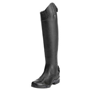 Ariat Women's Volant S Tall Zip Tall Riding Boots in Black Leather, Size 6 B / Medium Slim by Ariat