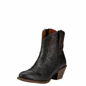 Ariat Women's Darlin Western Boots in Old Black Leather, Size 9 C / Wide by Ariat