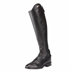 Ariat Women's Divino Tall Riding Boots in Black Calf Leather, Size 8.5 B / Medium Slim by Ariat