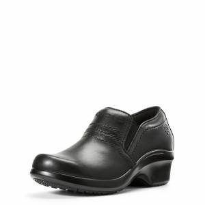 Ariat Women's Expert Clog SD Boots in Black Leather, Size 7.5 B / Medium by Ariat