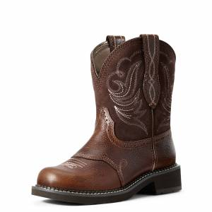 Ariat Women's Fatbaby Heritage Dapper Western Boots in Copper Kettle Leather, Size 10 B / Medium by Ariat