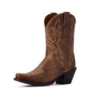 Ariat Women's Round Up Bella Western Boots in Dark Tan Leather, Size 7.5 B / Medium by Ariat