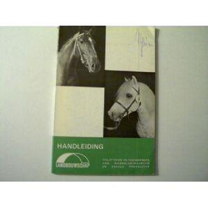 Handleiding - Anleitung, Toiletteren en voorbrengen van warmbloed paarden en enkele ponyrassen (Kennzeichnung und WC für Warmblut Pferde und einige P