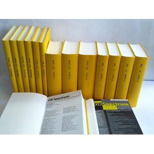 23 Jahrgänge1988 bis 2010. Band 10 bis 32 in 15 Bänden (OR Spectrum - Operations Research-Spektrum. Organ der Deutschen Gesellschaft für Operations R