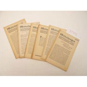 Mitteilungen des Kampfbundes für deutsche Kultur 1. Jahrgang 1929, 6 Hefte (nahezu vollständiger Jahrgang), mit einer Zeichnung von A. P a u l W e b