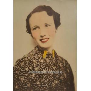 Antique VINTAGE COLORED HAIRDO ABSTRACT ARTISTIC BLOUSE FASHION VERNACULAR PHOTO   [ ]