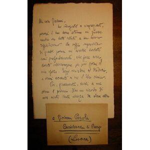 Lettera a Giovanni Pascoli. Marina di Pisa, 7 Settembre 1904 D Annunzio Gabriele [ ]