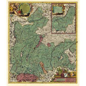 'Bavariae Pars Superior Cum Insertis Et Adjacentibus Regionibus non solum in ejusdem Ditiones Generales sed etiam in earundem Praefecturas Particular