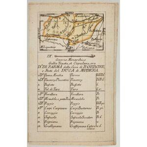 Governo Monarchico. Gallia Torgata, et Cispadana, ora D. Di Parma della Casa di Borbone, e Stati del Duca di Modena. RABATTA, Augusto & BAILOU, Jean