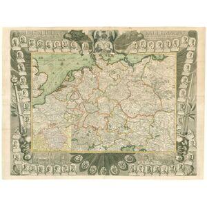 L'Empire d'Allemagne Dressée et Dédiée a Monseigneur le Dauphin Par N. de Fer Géographe de sa Majesté Catholique, et de Monseigneur le Dauphin. Corri