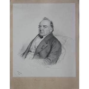 Portrait. Halbfigur nach halblinks. Lithographie von Kriehuber aufgewalztem Chinapapier, datiert Sommaruga, Franz Freiherr von (178-1860): [Very Good