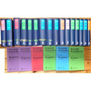 Hagers Handbuch der pharmazeutischen Praxis, 5. vollständige neubearbeitete Auflage, 15 Bände + 6 Broschurhefte.   [Very Good] [Hardcover]