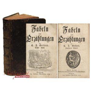 Fabeln und Erzählungen. 2 Teile in 1 Band. Gellert, C(hristian) F(ürchtegott). [ ] [Hardcover]
